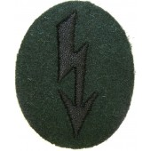 Wehrmacht Heer Army Signals operator with pioneer units trade patch