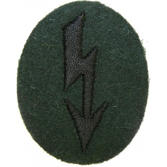 Wehrmacht Heer Army Signals operator with pioneer units trade patch. Espenlaub militaria