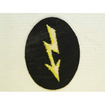 Wehrmacht Heer Army Signals operator with tank signal units or Female Wehrmacht helper trade patch. Espenlaub militaria