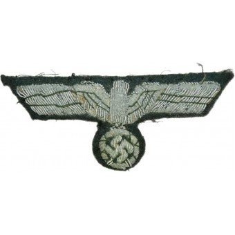 Wehrmacht Heer breast eagle. Hand embroidered. Espenlaub militaria