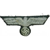 Wehrmacht Heer breast eagle. Hand embroidered