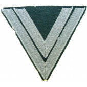 Wehrmacht Heer, mint Obergefreiter rank patch with nice grey aluminum Tresse