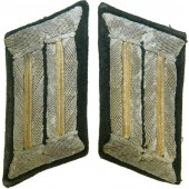Wehrmacht Heer, officer's collar tabs for Nachrichtentruppe/ Signals for Feldbluse