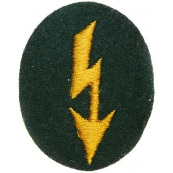 Wehrmacht Heer Signals operator with cavalry unit trade patch. Espenlaub militaria
