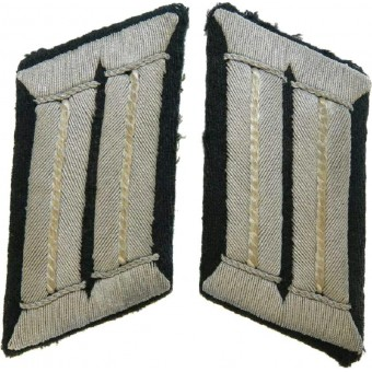 Wehrmacht Infantry officers collar patches for Feldbluse.. Espenlaub militaria