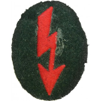 Wehrmacht Signals operator with artillery unit trade patch. Espenlaub militaria
