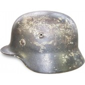 WW2 SE 64 M 40 Luftwaffe white camo steel helmet