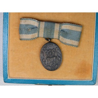 3rd Reich Bavarian Industrial Faithful Service Medal in its Case of Issue.. Espenlaub militaria