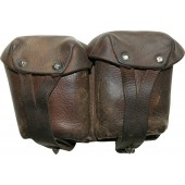Brown leather WW2 RKKA Mosin rifle pouch.