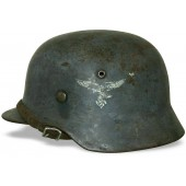 Luftwaffe M35 double decal steel helmet. Size ET64