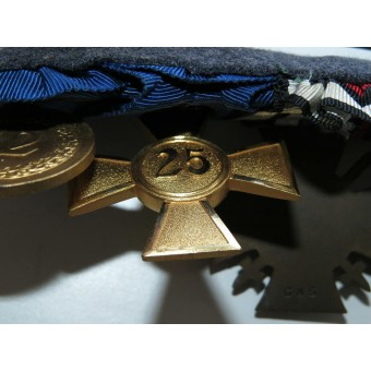 Medal bar of 4 awards for long service in Luftwaffe.. Espenlaub militaria
