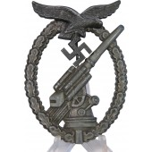 A.Scholze Anti-Aircraft Flak Battle Badge. Zinc