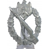 Late war zinc made Infantry assault badge