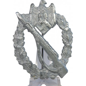 Late war zinc made Infantry assault badge. Espenlaub militaria