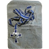 Silver class of the Cross of German mother in the bag of issue