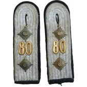 Slip-on shoulder boards for Wehrmacht Hauptman in 80th Pioneer battalion