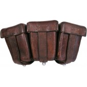 Brown leather pouch for German k98 Karabiner, 1938  4./A.R.65