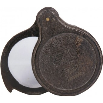Magnifying glass in a carbolite case, from the set of the commanders bag of the Red Army. Espenlaub militaria