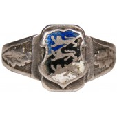 Silver patriotic ring of an Estonian volnteer in the Waffen-SS