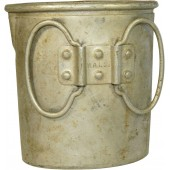 Aluminum cup with marking W.A.L 38