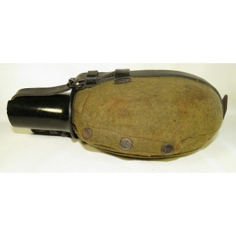 Aluminum mountain troops or Wehrmacht sanitary assistant flask, DMW41. Espenlaub militaria