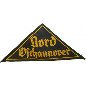 Hitlerjugend sleeve triangle,  Nord Osthannover. Espenlaub militaria