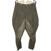 Wehrmacht Heer or SS М36 breeches with leather reinforcement,  Steingrau
