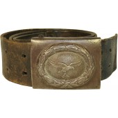 WW2 German Luftwaffe belt with steel buckle, 1941