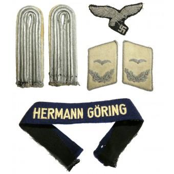 Set of insignia - a lieutenant in Hermann Goering Division. Espenlaub militaria