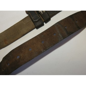 Red Army Semi-surrogate canvas belt M1941. Rare variant.. Espenlaub militaria