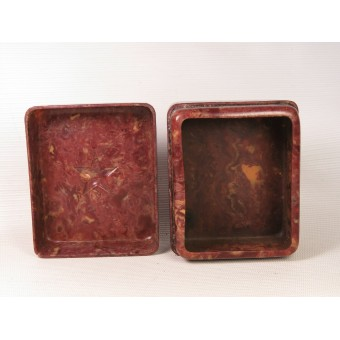 Red Army soldiers celluloid container for shaving accessories. Espenlaub militaria