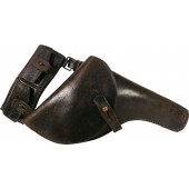 RKVFM Holster for Nagant revolver -Navy,  suspended