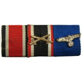 Iron cross 1939, Treue dienst in der Wehrmacht medaille, Hindenburg cross with swords ribbon bar