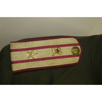 Soviet M 43 officers gimnasterka for Major of supply/comissariat service.. Espenlaub militaria