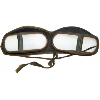 Soviet tank crew or dispatch riders leather goggles. Espenlaub militaria