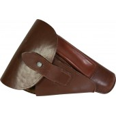 Walther PPK pistol, brown leather holster - mint
