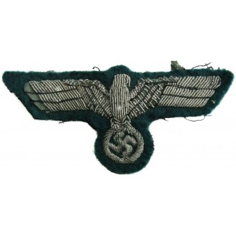 Wehrmacht Heer tunic removed aluminum bullion eagle. Espenlaub militaria