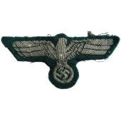 Wehrmacht Heer tunic removed aluminum bullion eagle