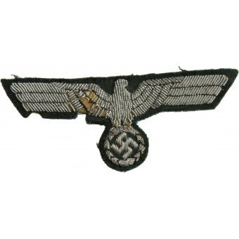 WW2 German Wehrmacht officers aluminum bullion embroidered breast eagle. Espenlaub militaria