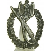 WW2 Infantry Assault Badge  - in silver.