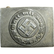 3rd Reich police aluminum buckle.