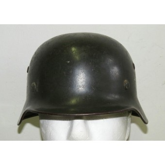 Double Decal Polizei M35 steel helmet. Espenlaub militaria