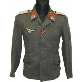 Luftwaffe FLAK lieutenant tunic with KRIM shield award.