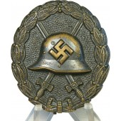3rd Reich wound badge in black, 1st type