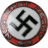 "Early NSDAP sympathizer badge, ""Nun erst recht"""