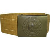 Wehrmacht combat canvas belt and buckle for DAK, ESL 41-E