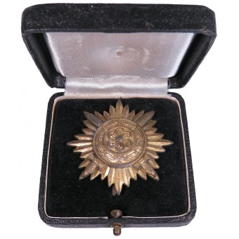Gold Grade Eastern Peoples Bravery Star, I Class With Swords. Espenlaub militaria