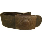 Wehrmacht army steel buckle and belt- Haarmann Ludenscheid