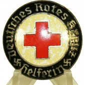 3rd Reich German Red Cross DRK Female Helper's Service Broche