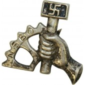 3rd reich NSBO headgear badge